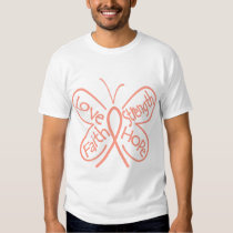 Endometrial Cancer Butterfly Inspiring Words T-Shirt