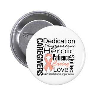 Endometrial Cancer Caregivers Collage Pin