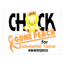 Endometrial Cancer Chick Gone Peach 2 Postcard