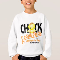 Endometrial Cancer Chick Gone Peach 2 Sweatshirt