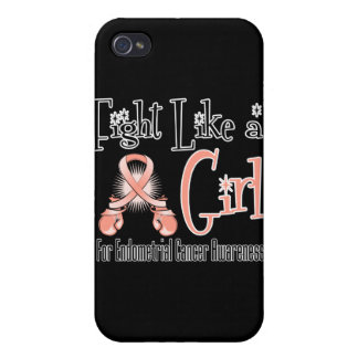 Endometrial Cancer Cool Retro Fight Like a Girl iPhone 4/4S Covers
