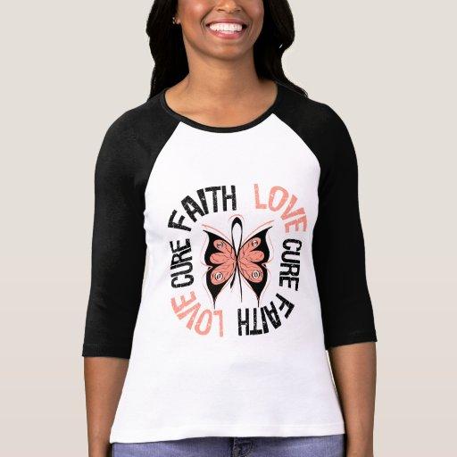 Endometrial Cancer Faith Love Cure T Shirts