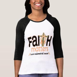 Endometrial Cancer Faith Matters Cross 1 T-Shirt