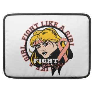 Endometrial Cancer Fight Like A Girl Attitude Sleeve For MacBook Pro