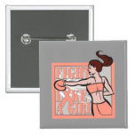 Endometrial Cancer Fight Like A Girl Boxer Pins
