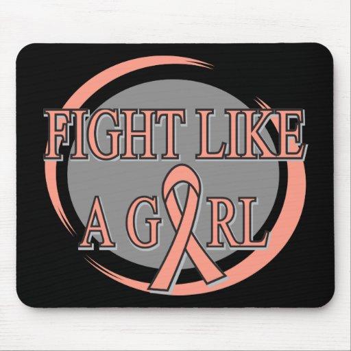 Endometrial Cancer Fight Like A Girl Circular Mousepad
