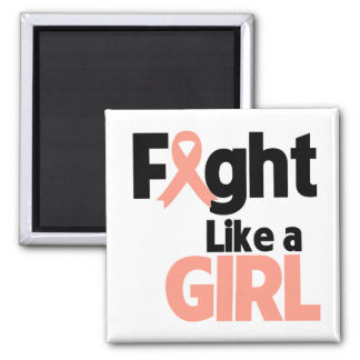 Endometrial Cancer Fight Like a Girl Magnets