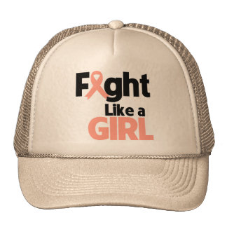 Endometrial Cancer Fight Like a Girl Mesh Hat