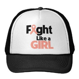 Endometrial Cancer Fight Like a Girl Trucker Hat