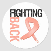 Endometrial Cancer Fighting Back Classic Round Sticker