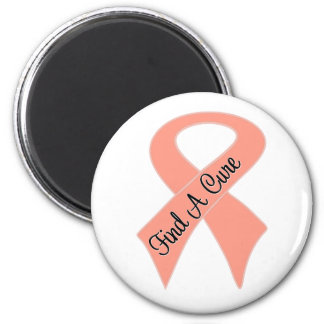 Endometrial Cancer Find a Cure 2 Inch Round Magnet