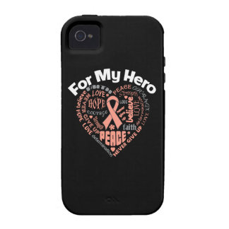 Endometrial Cancer For My Hero iPhone 4/4S Cases
