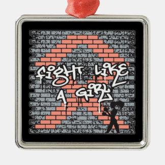 Endometrial Cancer Graffiti Wall Fight Like A Girl Christmas Ornament