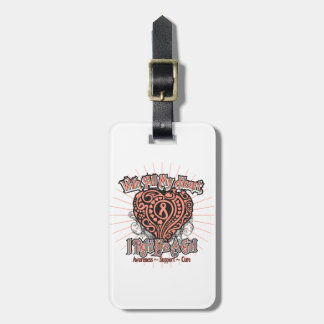 Endometrial Cancer Heart I Fight Like A Girl Tag For Bags