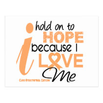 Endometrial Cancer Hold On To Hope For ME Postcard