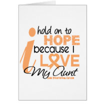 Endometrial Cancer Hold On To Hope For My Aunt Card