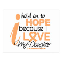 Endometrial Cancer Hold On To Hope For My Daughter Postcard