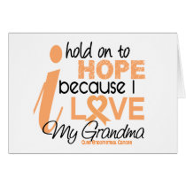 Endometrial Cancer Hold On To Hope For My Grandma Card
