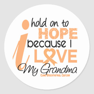 Endometrial Cancer Hold On To Hope For My Grandma Stickers