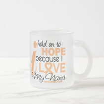 Endometrial Cancer Hold On To Hope For My Nana Frosted Glass Coffee Mug
