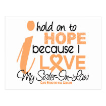 Endometrial Cancer Hold On To Hope For My Sister-I Postcard
