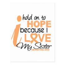 Endometrial Cancer Hold On To Hope For My Sister Postcard