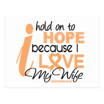 Endometrial Cancer Hold On To Hope For My Wife Postcard