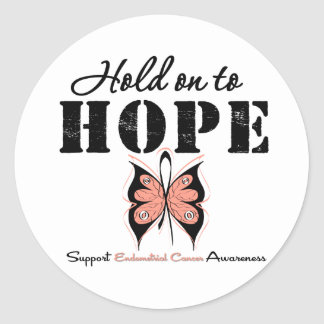 Endometrial Cancer Hold On To Hope Stickers