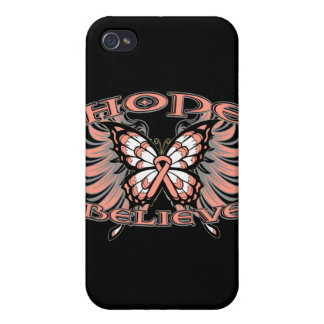 Endometrial Cancer Hope Believe Butterfly iPhone 4/4S Covers