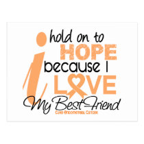 Endometrial Cancer Hope For My Best Friend Postcard