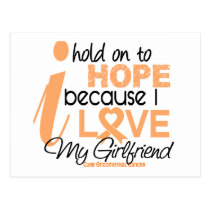 Endometrial Cancer Hope For My Girlfriend Postcard