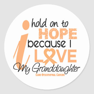 Endometrial Cancer Hope For My Granddaughter Stickers