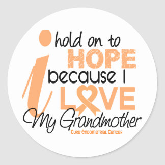 Endometrial Cancer Hope For My Grandmother Stickers