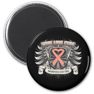 Endometrial Cancer Hope Love Cure 2 Inch Round Magnet