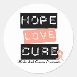 Endometrial Cancer Hope Love Cure Sticker