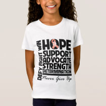 Endometrial Cancer Hope Support Advocate T-Shirt
