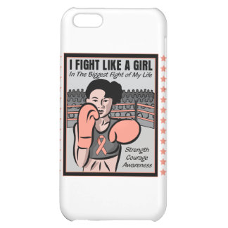 Endometrial Cancer I Fight Like A Girl Ble Case For iPhone 5C