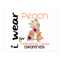 Endometrial Cancer I Wear Peach For Awareness 43 Postcard