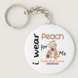 Endometrial Cancer I Wear Peach For Me 43 Keychain