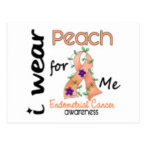 Endometrial Cancer I Wear Peach For Me 43 Postcard
