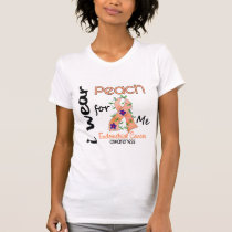 Endometrial Cancer I Wear Peach For Me 43 T-Shirt