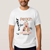 Endometrial Cancer I Wear Peach For Me 43 T Shirt