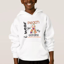 Endometrial Cancer I Wear Peach For My Grandma 43 Hoodie