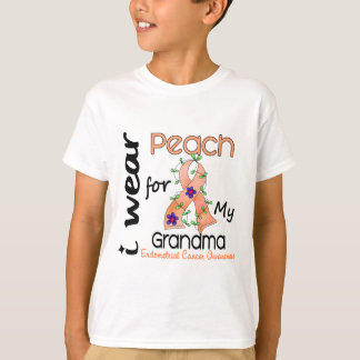 Endometrial Cancer I Wear Peach For My Grandma 43 T-Shirt