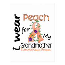 Endometrial Cancer I Wear Peach For My Grandmother Postcard