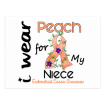 Endometrial Cancer I Wear Peach For My Niece 43 Postcard