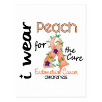Endometrial Cancer I Wear Peach For The Cure 43 Postcard