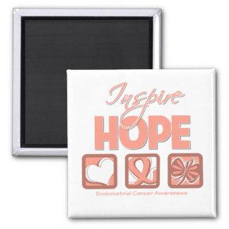 Endometrial Cancer Inspire Hope Fridge Magnet