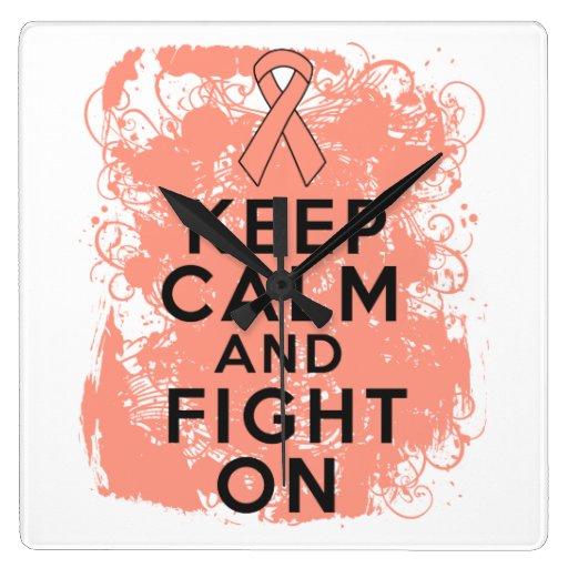 Endometrial Cancer Keep Calm and Fight On Clocks