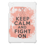 Endometrial Cancer Keep Calm and Fight On Cover For The iPad Mini